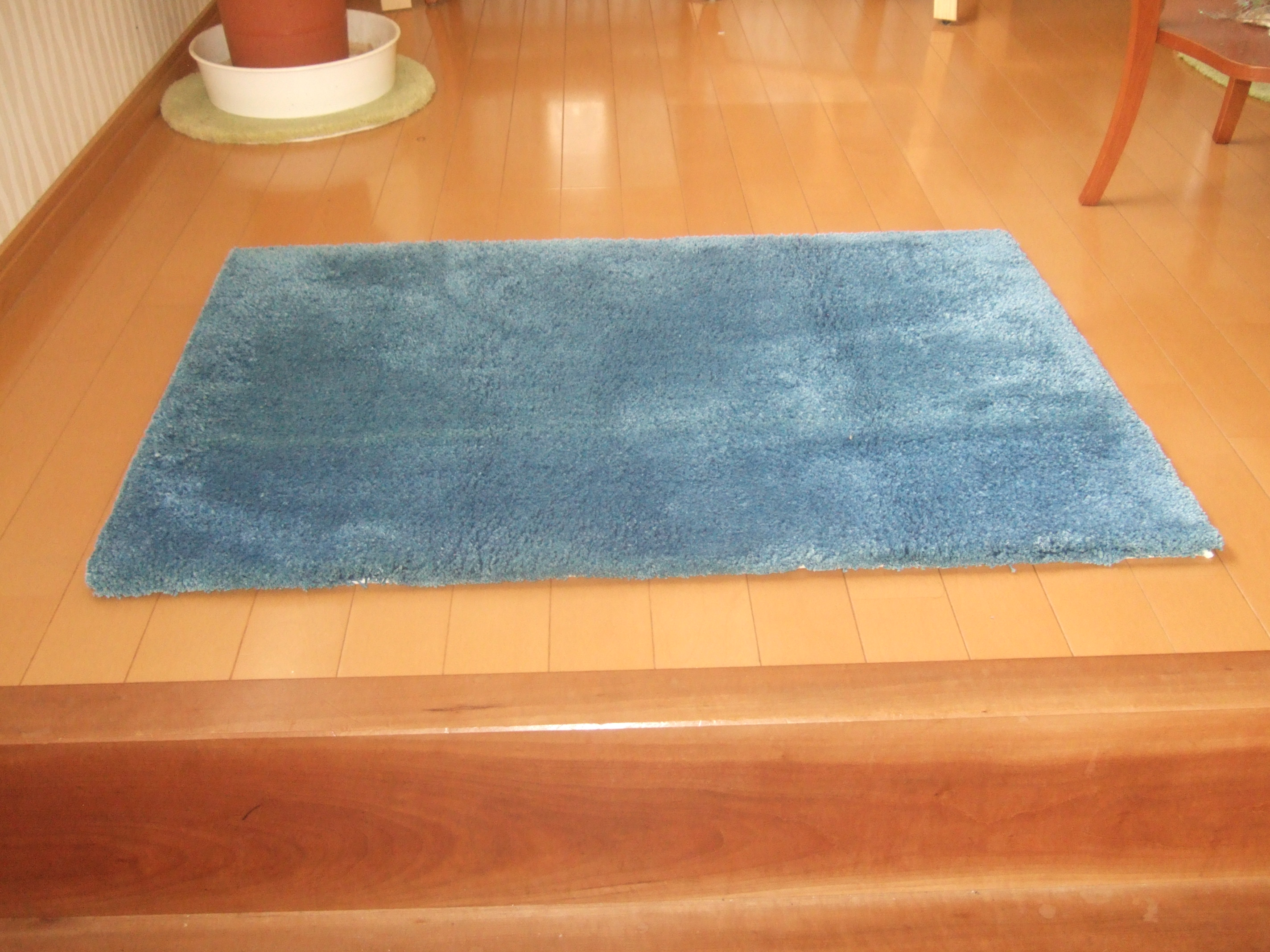 阿波藍の敷物 60X90センチ 淡色