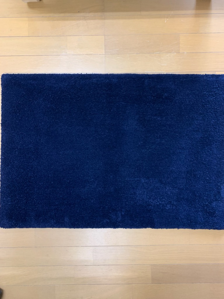 阿波藍の敷物 50X80センチ/四角・楕円・70センチ円型 濃色